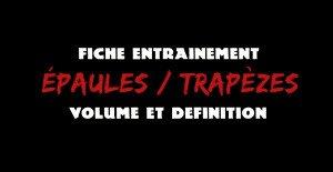 🔒Programme volume et définition : épaules et trapèzes