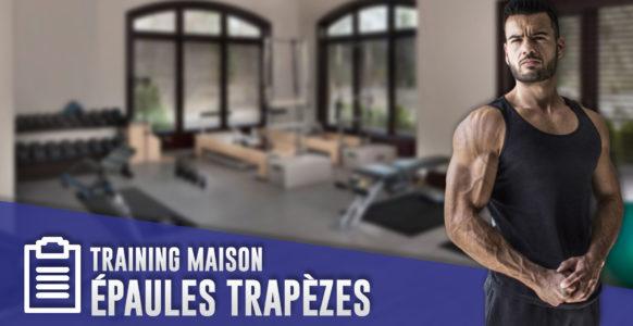 Programme épaules trapèzes à la maison ( avec élastiques et haltères )