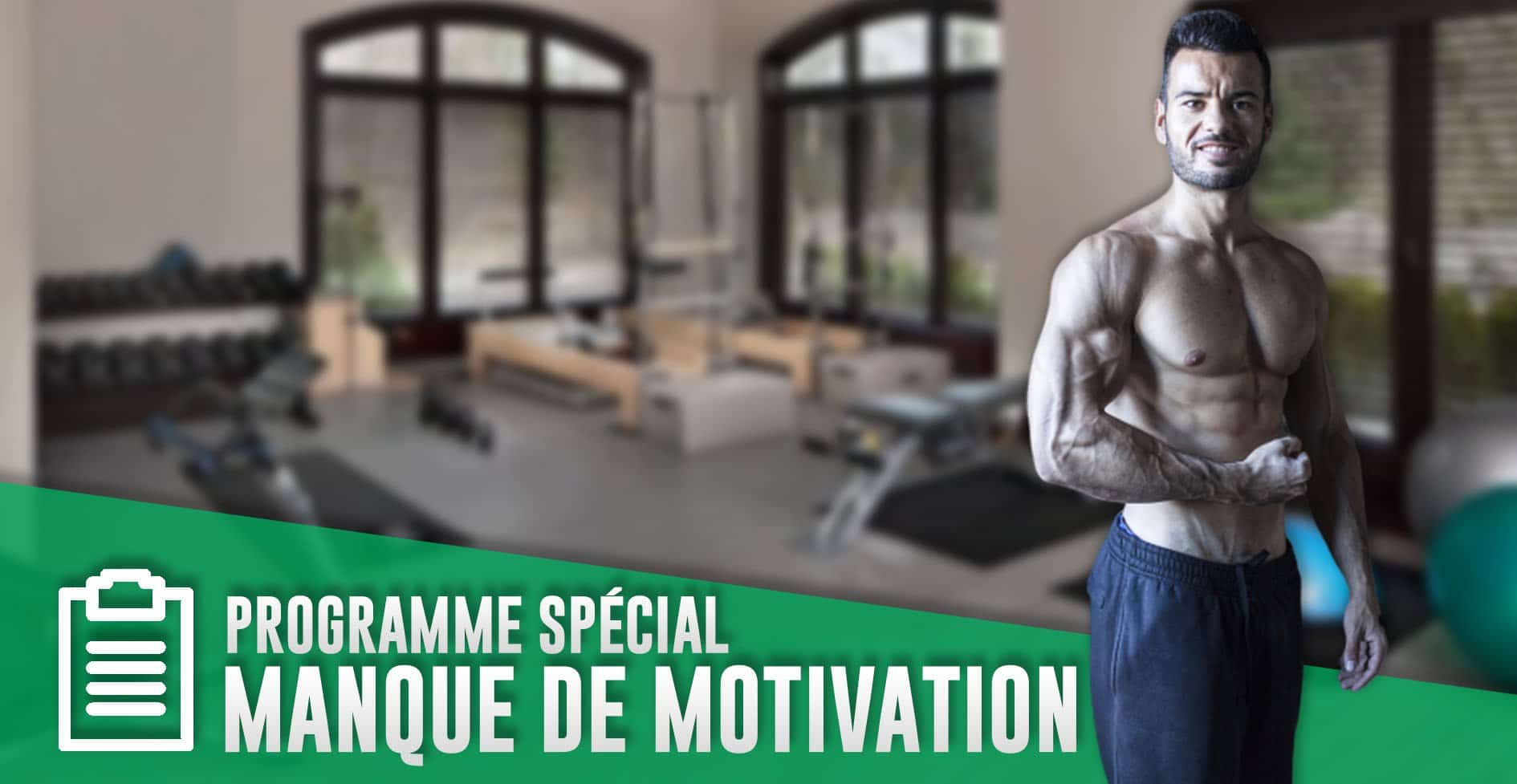 PROGRAMME MANQUE MOTIVATION