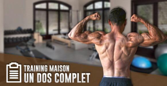Programme complet du dos en musculation à la maison