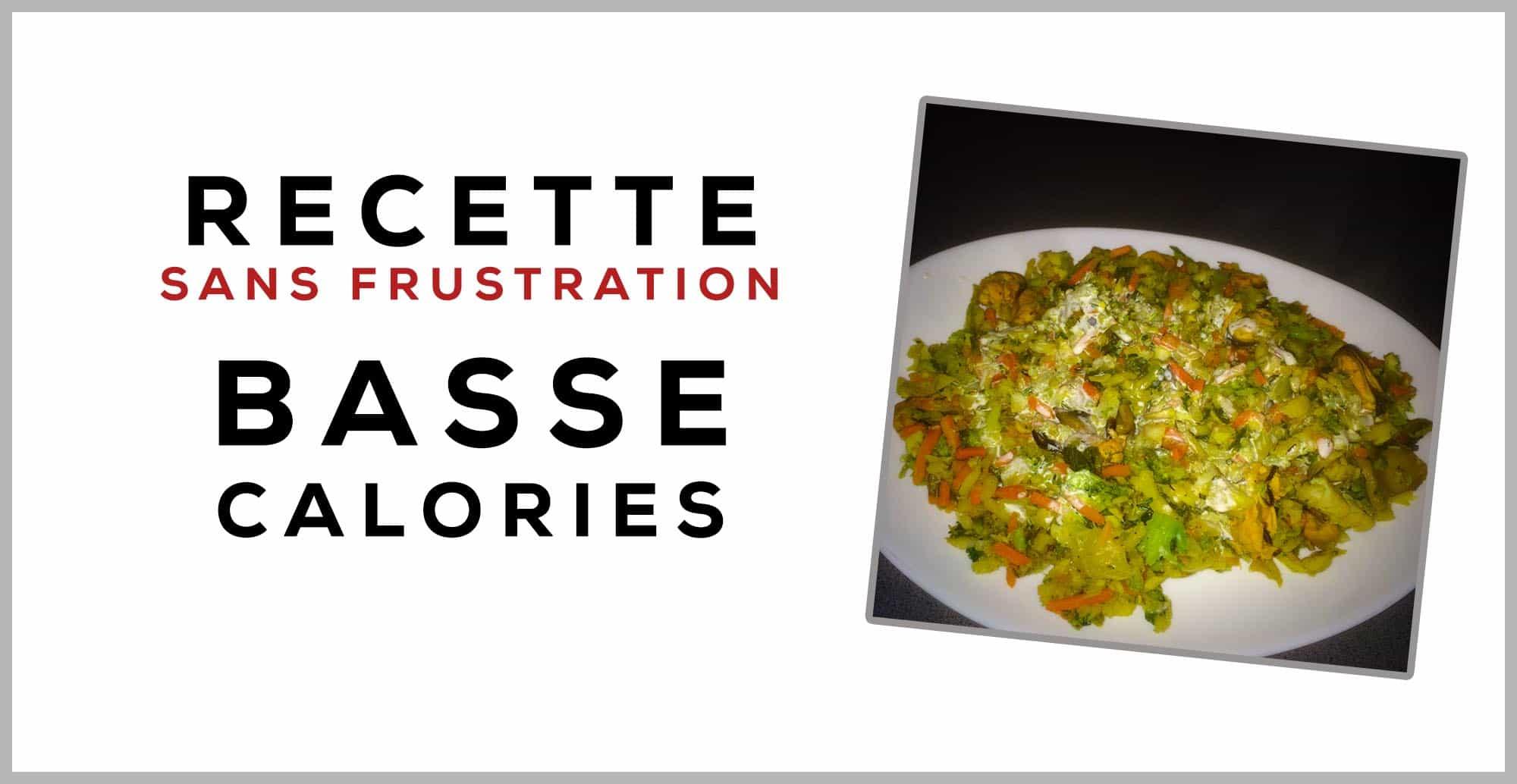 Mélange poisson, moules et légumes en sauce et bas en calories