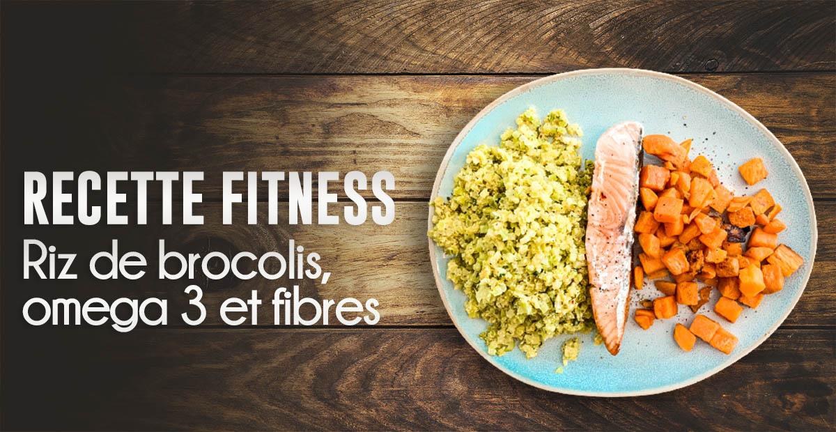 Recette fitness : saumon à la patate douce te riz de brocolis